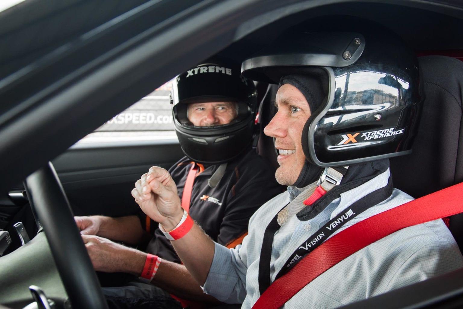 Inside Race Car