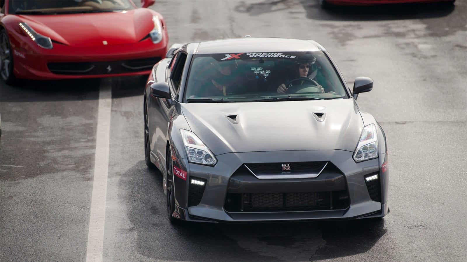 Nissan GT-R in silver