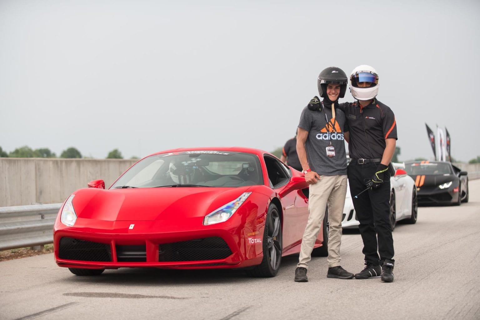 racers next to car