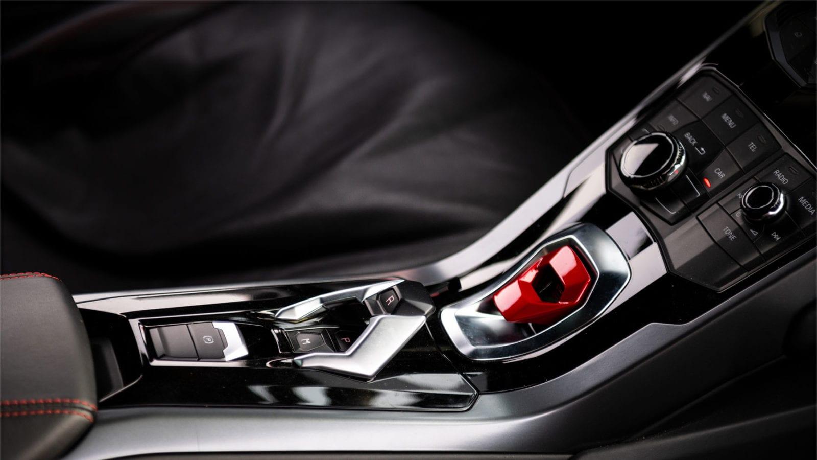 Lamborghini Huracan engine start button