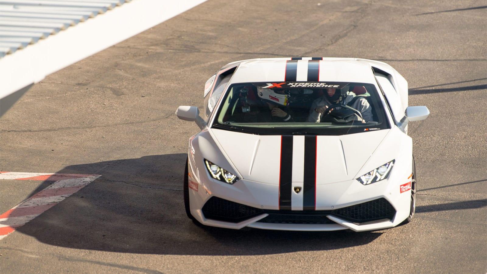 Lamborghini Huracan in white