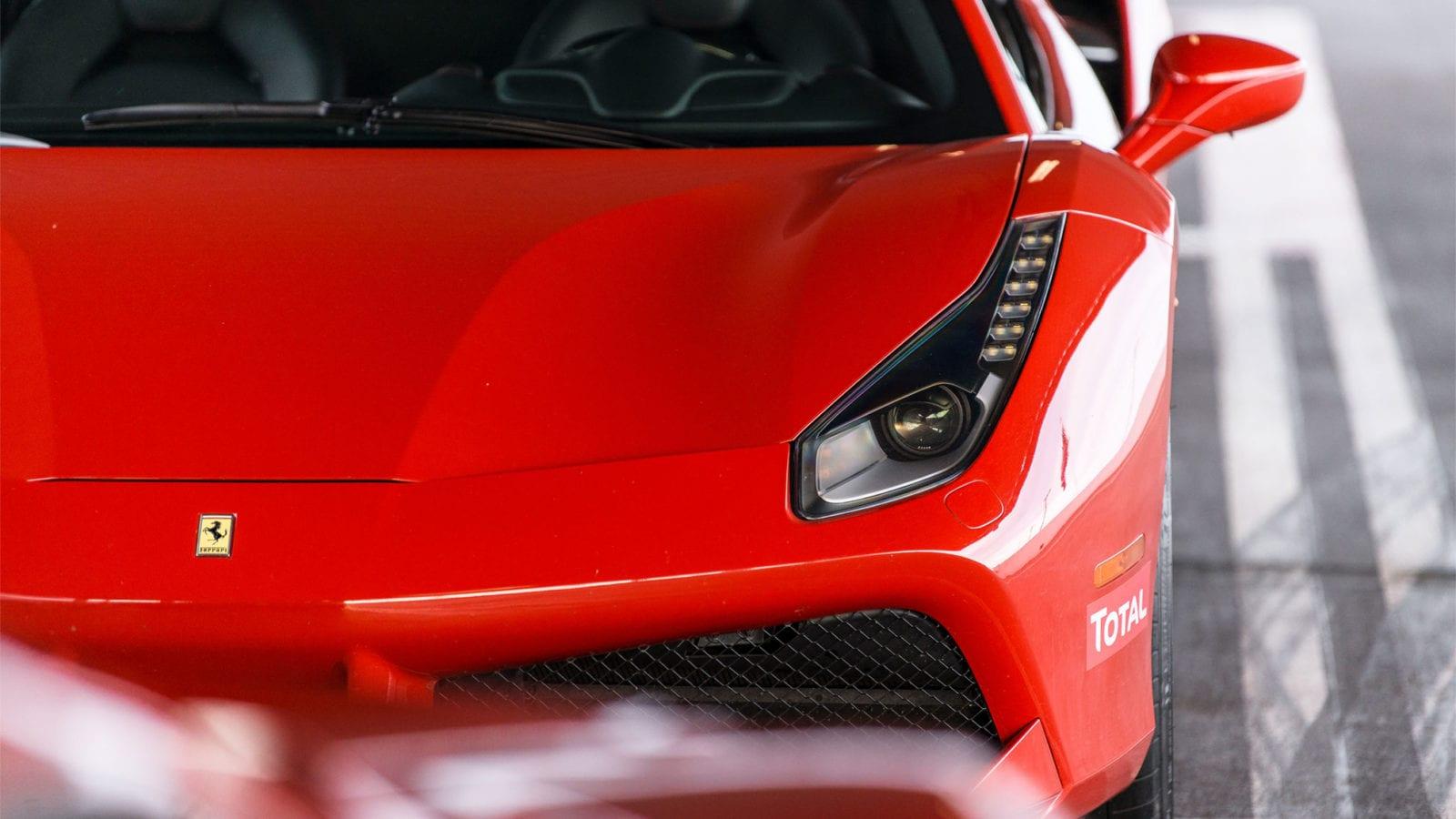 Ferrari 488 GTB in red front end