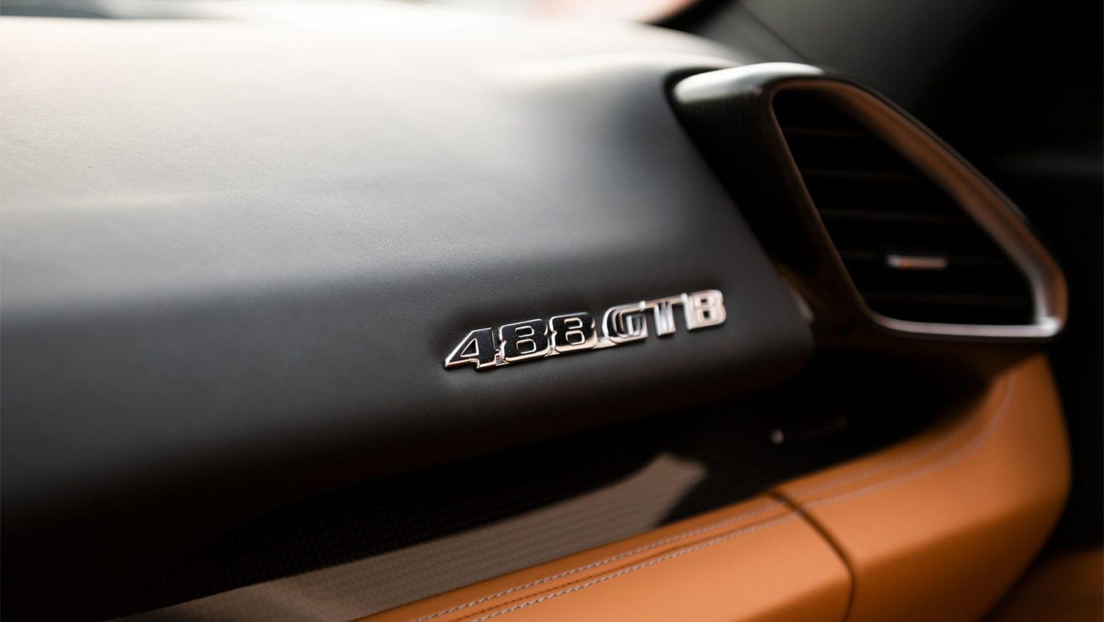 Ferrari 488 GTB interior badging