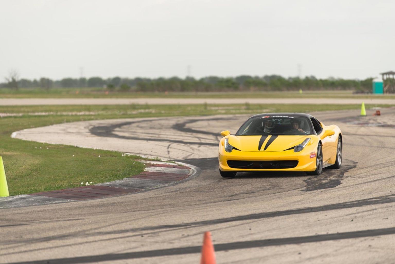 yellow racecar