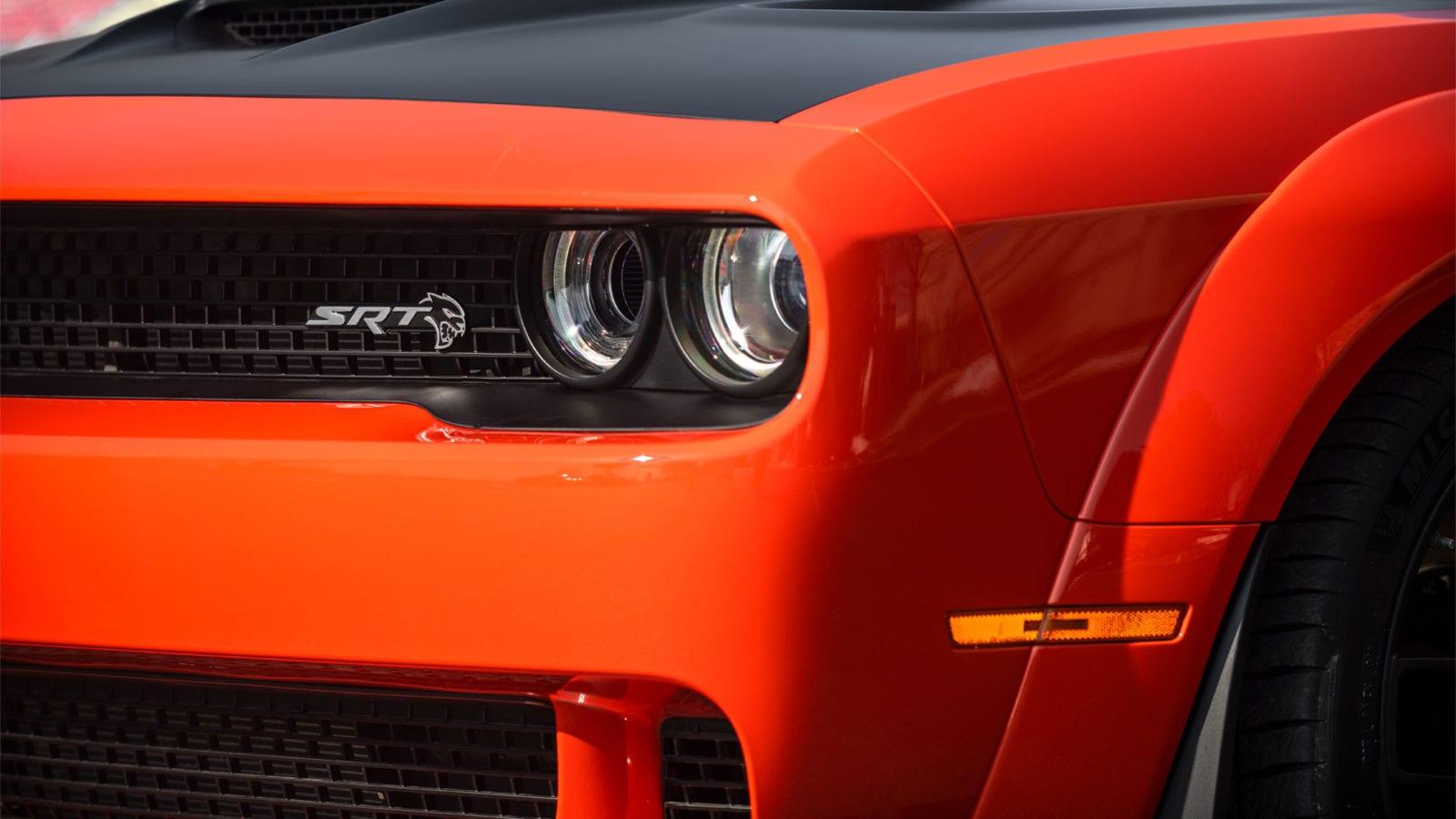 Dodge Hellcat Widebody head lights